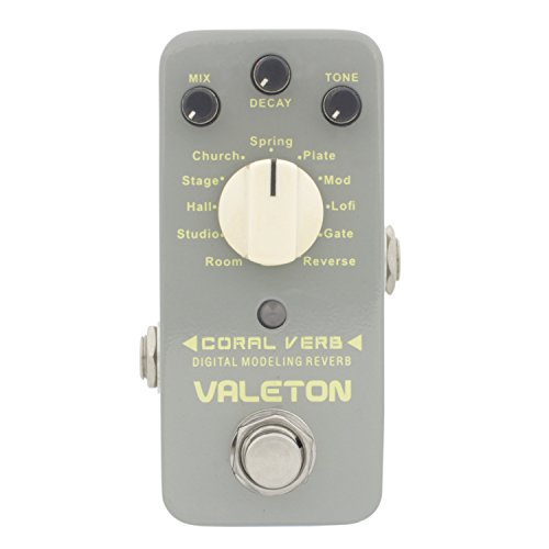 Valeton CRV-2 Coral Verb 11 Types Digital Reverb Guitar Effect Pedal by Valeton