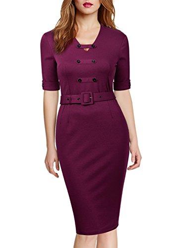 Miusol Womens Business Optical Illusion Work Bodycon Pencil Dress