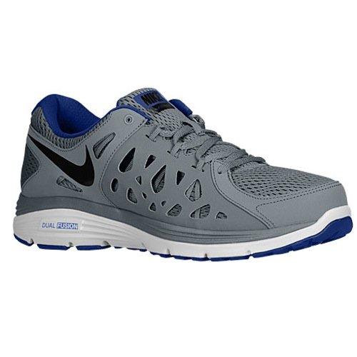 Nike Men's Dual Fusion Run 2 Running Shoes (6.5 D(M) US, Cool Grey/Blk/Dp RYL Bl/White)
