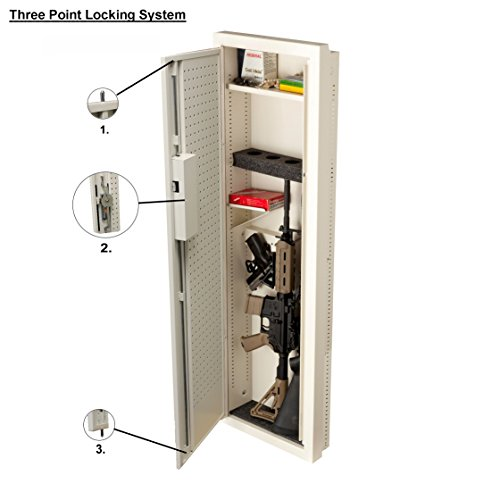 V-Line Closet Vault II Gun Safe & in-Wall Cabinet, Off White
