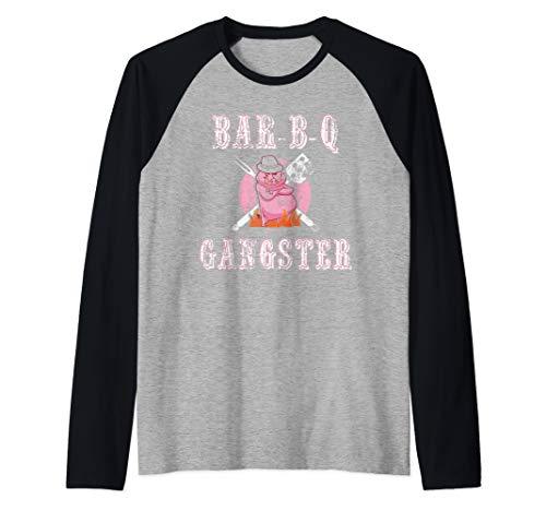 Funny BBQ Gifts for Men- Pork Pit BBQ Grilling Master BBQ Raglan Baseball Tee
