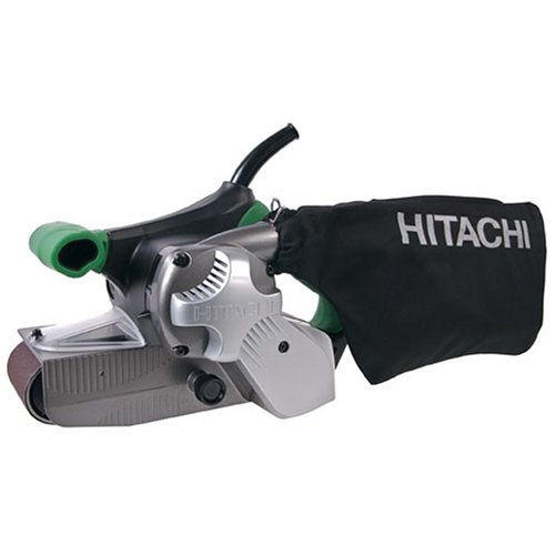 Hitachi SB8V2 9.0 Amp 3-Inch-by-21-Inch Variable Speed Belt Sander with Trigger Lock and Soft Grip Handles by Hitachi