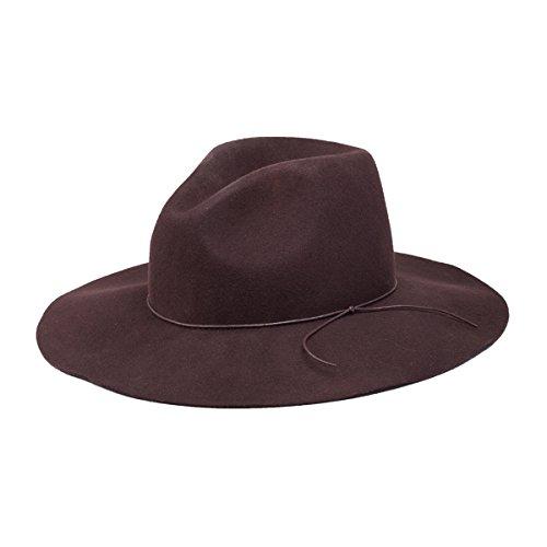 afa75f02ea157 Peter Grimm Zima Wool Felt Sun Hat – Wide Brim Sable Fedora - Brown by Peter