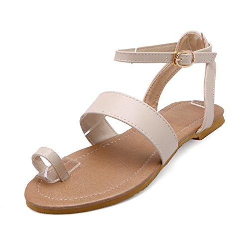 Peep Toe De Beige Aisun Chaussure Sandales Confortable Plage Femme 1nqwaFXY