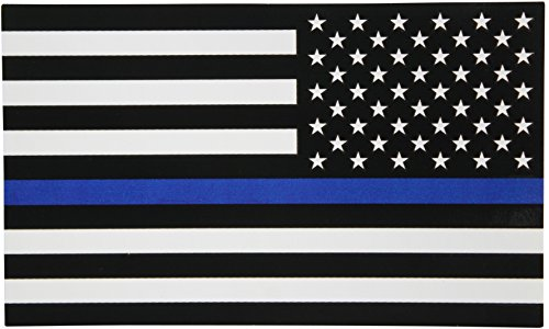Reverse-Thin-Blue-Line-Flag-Decal-3x5-in-Black-White-and-Blue-American-Flag-Sticker-for-Cars-and-Trucks-In-Support-of-Police-and-Law-Enforcement-Officers