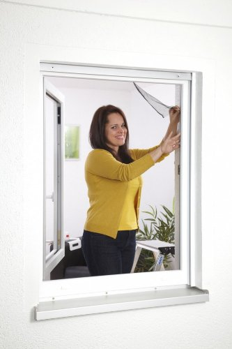 Charmant Moustiquaire Fenêtre Fixation Velcro L130 X H150 Cm Blanc: Amazon.fr:  Bricolage