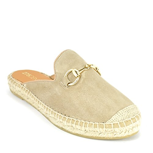 275 Central 7009 - Suede Espadrille Mule Taupe