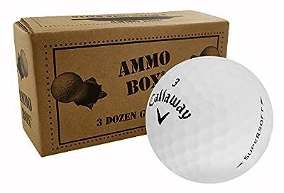 Callaway Supersoft Near Mint Used Golf Balls 3-Dozen White