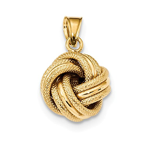 ICE CARATS 14kt Yellow Gold Textured Love Knot Pendant Charm Necklace Fancy Fine Jewelry Ideal Gifts For Women Gift Set From Heart