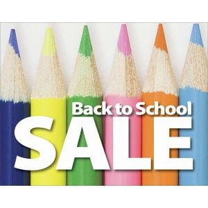 Deluxe Back To School Promotional Signs