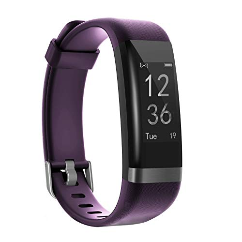 moreFit Heart Rate Monitor, Dare Activity Fitness Tracker Watch with 14 Sports Mode, Wireless Smart Bracelet as Pedometer Calorie Counter and Sleep Tracker for Kids Women Men (Purple