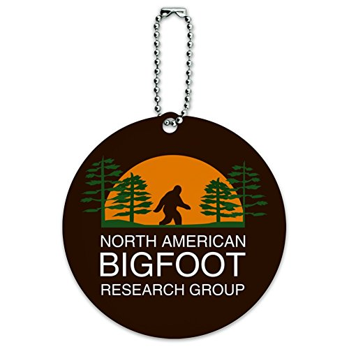 North American Bigfoot Research Group Round Luggage Card Carry-On ID Tag ()