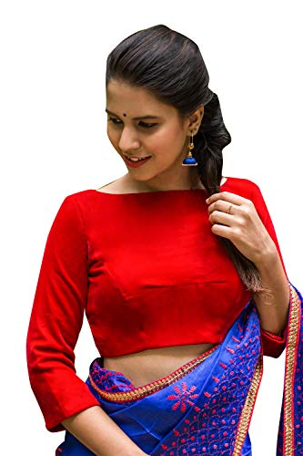 Women's Party Wear Readymade Bollywood Designer Indian Style Padded Blouse for Saree Crop Top ()