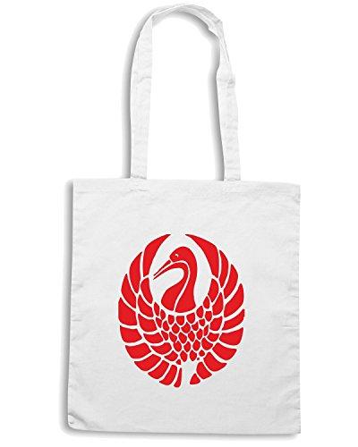 T-Shirtshock - Bolsa para la compra FUN0788 bird birds animal car or wall vinyl decal sticker 31 91511 Blanco
