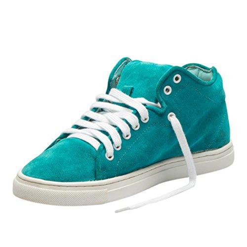 Cuir Plat Outdoor Loisirs de Lacets Mode TEDISH TD003 Confortable Grass Blue Chaussures Blue Claire Grass Dames Femme Marche Baskets Iw8HB0qF