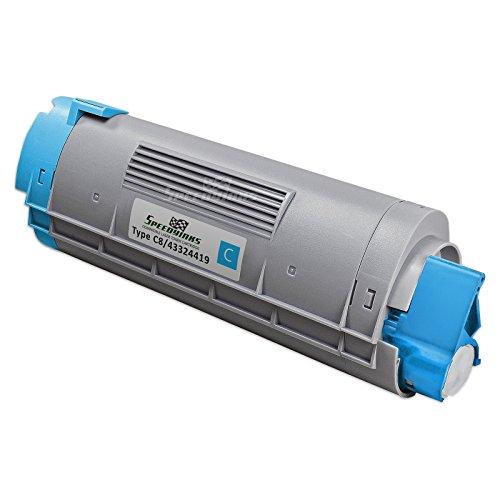 Speedy Inks - Okidata Compatible 43324419 Type C8 Cyan Laser Toner Cartridge 5, 000 Page Yield for use in Oki C5550n, Oki C6100n, Oki C6100dn, Oki C6100dtn, Oki (43324419 Laser)