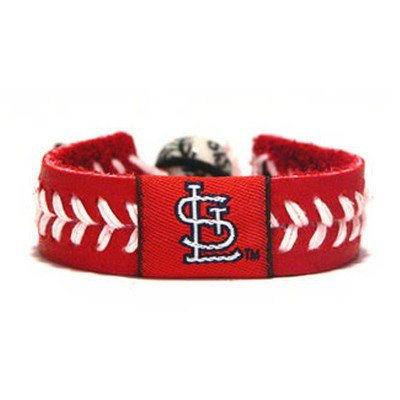 MLB Leather Wrist Band MLB Team: St. Louis Cardinals, Style: Team Colors