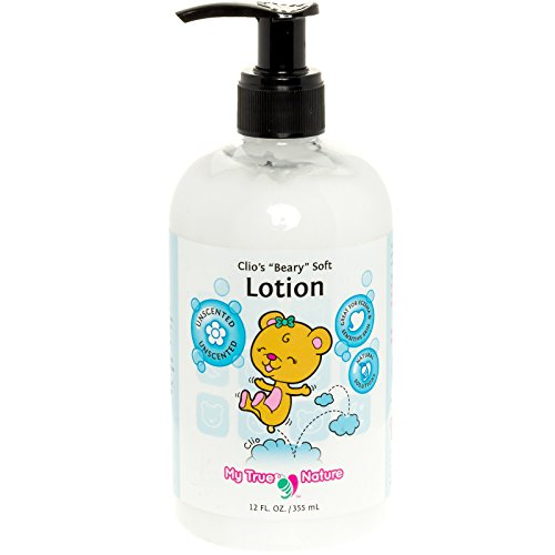 Natural Lotion for Baby – Clio's Beary Soft Fragrance-Free Lotion for Sensitive Skin- Unscented, 12 Ounce
