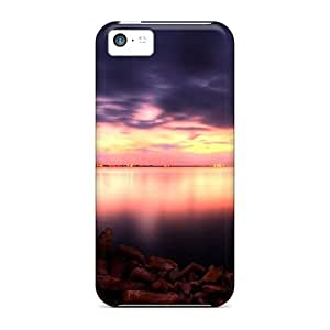 New Fashion Premium Tpu Case Cover For Iphone 5c - A Still Harbor At Dusk by supermalls
