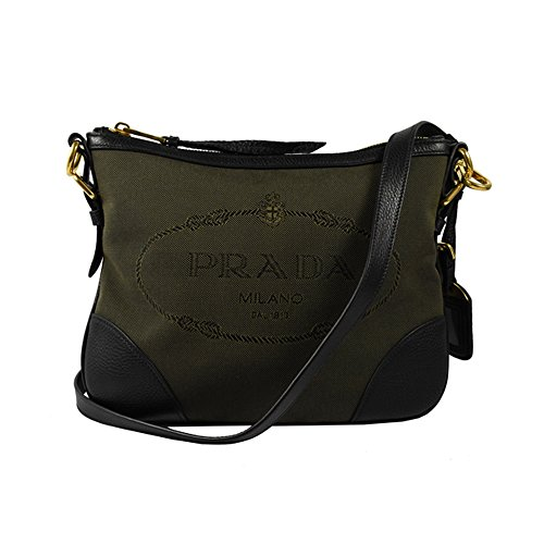 Logo Jacquard Prada Women's Brown Crossbody 1BH086 Rn04548x
