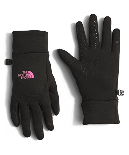 The North Face Women's Etip Hardface Gloves (Sizes XS - M) - black/pink, L
