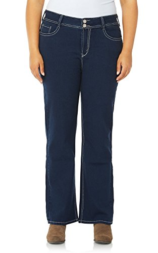 e2436e5b524 WallFlower Women s Plus-Size Embellished Pocket Luscious Curvy Bootcut Jeans