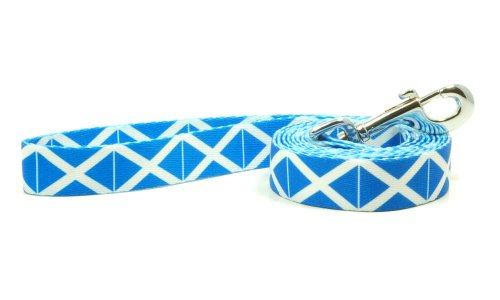 PatriaPet Dog Leash with The Scotland Flag Design | Great for National Holidays, Special Events, Festivals, Independence Days and Every Day Strong Safe | 4 or 6 Foot Long
