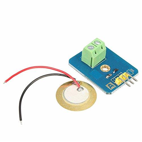 1pc Ceramic Piezo Vibration Sensor Analog Output Electronic Components Supplies Sensors Durable Quality 30mm x 23mm Sensors
