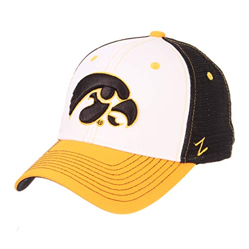 - Zephyr NCAA Iowa Hawkeyes Mens Threepeatthreepeat Relaxed Cap, White/Team Color, Adjustable