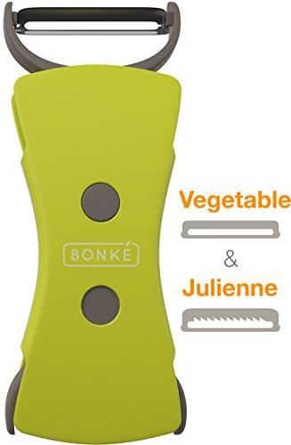 Lanzamiento de nuevo producto venta - 5,08 cm 1 Bonke pelador de verduras y Julienne pelador juego - Hoja de acero inoxidable...