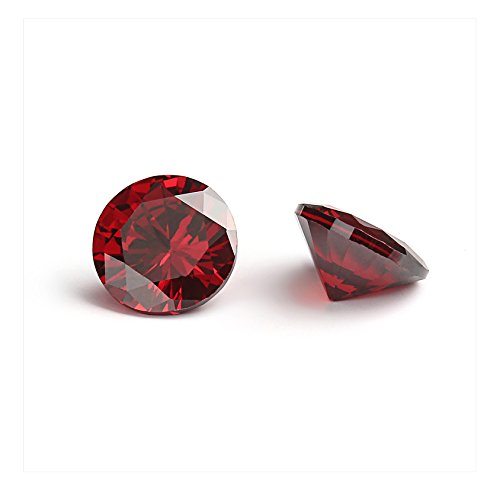 9mm Flawless Garnet Red Cubic Zirconia Stones Round Brilliant-Cut Cz Stone Settings - Cubic Zirconia Beads Wholesale