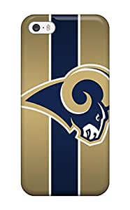 Iphone 5/5s Case Cover - Slim Fit Tpu Protector Shock Absorbent Case (st. Louis Rams)