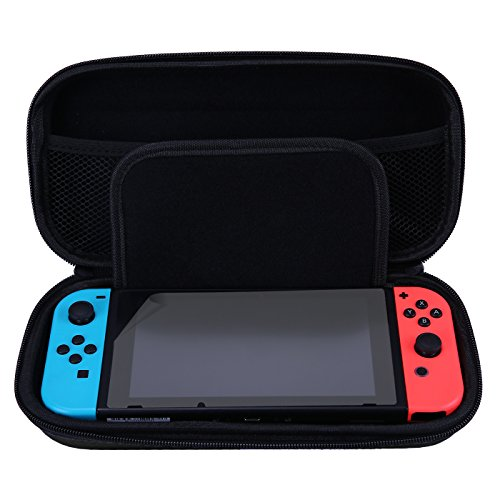 Hde Nintendo Switch Case With Included Screen Protector And Built In 10 Game Holder Premium Protective Portable Travel Carry Case Hard Shell Pouch With Game Storage
