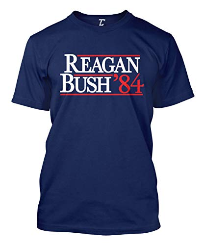 Reagan Bush 84 - Retro Vintage Election Men's T-Shirt (Navy, XXX-Large) ()