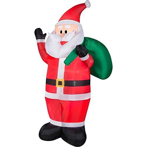 Gemmy Inflateables Holiday 36869 Air Blown OPP Santa Decor (Air Blown Inflatables)