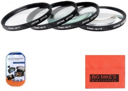 58mm Close-Up Filter Set (+1, +2, +4 and +10 Diopters) Magnificatoin Kit - Metal Rim For Nikon DF, D90, D3000, D3100, D3200, D3300, D5000, D5100, D5200, D5300, D5500, D7000, D7100, D300, D300s, D600, D610, D700, D750, D800, D810 Digital SLR Cameras Which Has Any Of These Nikon Lenses 35mm f/1.8G, 50mm f/1.4G, 50mm f/1.8G, 55-300mm