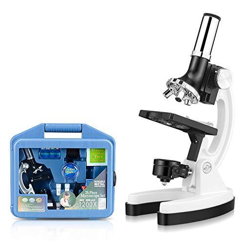 ventas de salida Microscopios para Estudiantes y y y niños 300X-600X-1200X con Funda de microscopio Estuche de Almacenamiento práctico, Brazo y Base de Metal como Regalos  Todos los productos obtienen hasta un 34% de descuento.