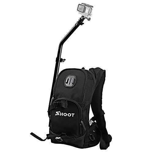 Guide Pro Bag - SHOOT Selfie Pro Backpack Bag for GoPro Quick Assembly Guide Sports Case Accessories for GoPro Hero 6/5/4/3+/3/5 Session/HERO(2018)/Fusion Campark AKASO FITFORT Camera for Bicycle Skiing Cycling