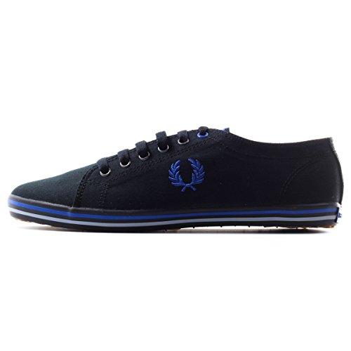 Fred Perry Men's Kingston Twill Fashion Sneaker,Black,12 UK/13 M US