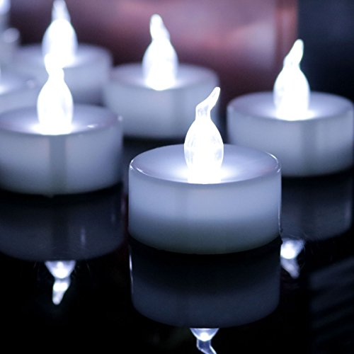 Micandle 100pcs Cool White No Flickering Battery Operated LED Tea Light Candles, Unscented Smokeless No Flashing Electric Flameless LED Tealights Candles for Wedding, Party,halloween and Christmas by Micandle