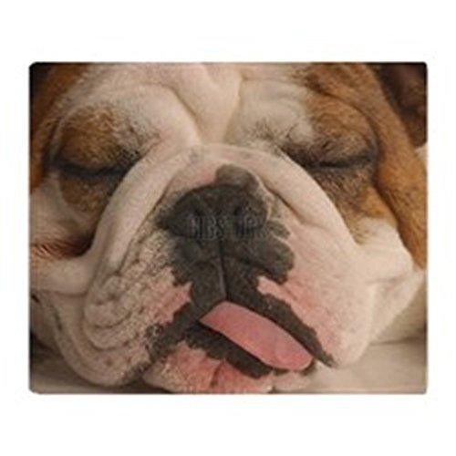 CafePress - Bulldog Face Close Up With Tongue Ou - Soft Fleece Throw Blanket, 50