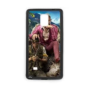 Far Cry 4 Game 15322 Funda Samsung Galaxy Note 4 Funda caja del teléfono celular Negro E1W7LN Plastic caja del teléfono celulars Protective