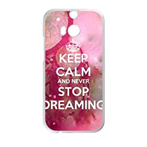 DAZHAHUI Never Stop Dreaming Cell Phone Case for HTC One M8