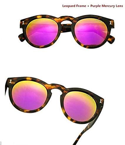 167040d4633 Amazon.com   2015 Brazil illesteva (replica) sunglasses women brand designer  vintage sun glasses mirror eyewear retro women Hot (Leopard Purple)    Sports   ...