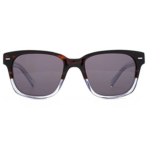 French Connection Premium Lunettes de soleil rétro Rectangle en écaille de tortue cristal clair dégradé FCA025