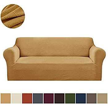 Amazon.com: Madison Stretch Jersey Tangerine sofá Slipcover ...