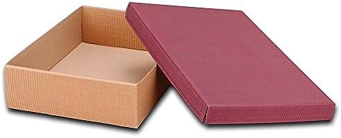 3 Vino de cartón, caja de cartón con tapa, abierto onda, 36 x 27 x 9 cm, burdeos/natural: Amazon.es: Oficina y papelería