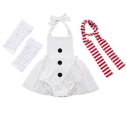 Toddler Infant Baby Girl Snowman Costume Romper Dress + Leg Warmers + Scarf Outfits Clothes (2-3 Years)]()