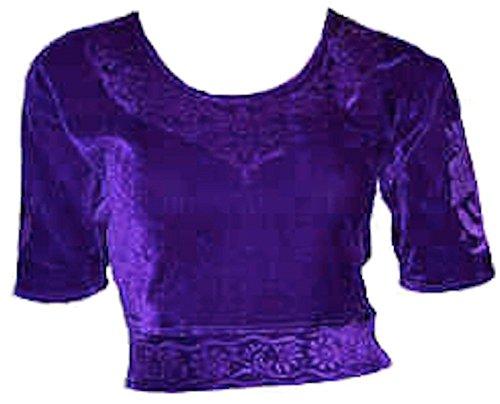 Lilas Choli haut en velours ideal avec un sari Size S
