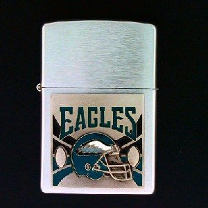 Retired Large Emblem NFL Zippo - Philadelphia Eagles